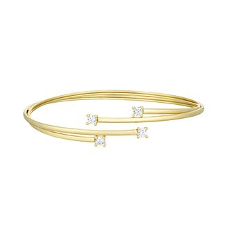 Together Silver & 9ct Bonded Gold Cubic Zirconia Bangle - Product number 3157598