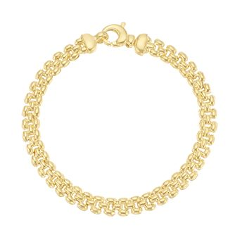 Together Silver & 9ct Bonded Yellow Gold Fancy Link Bracelet - Product number 3157601