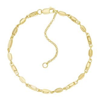 Together Silver & 9ct Bonded Yellow Gold Beaded Bracelet - Product number 3157628