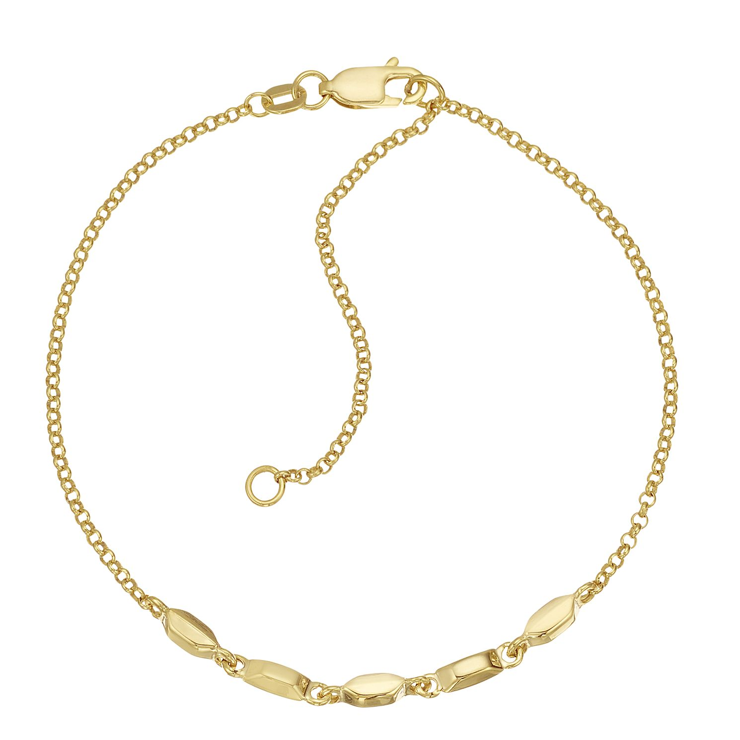 Together Silver & 9ct Bonded Yellow Gold Five Bead Bracelet - Product number 3157636