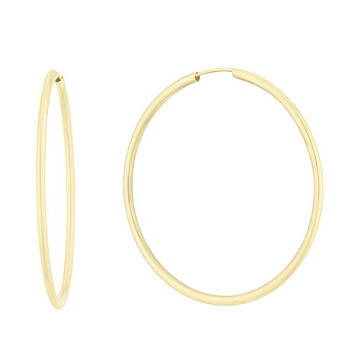 9ct Yellow Gold 35mm Sleeper Earrings - Product number 3164756