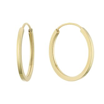 9ct Yellow Gold 12mm Sleeper Earrings - Product number 3164861