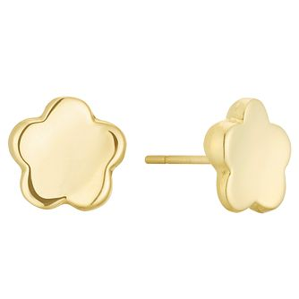 071547f7b 9ct Yellow Gold Flower Stud Earrings - Product number 3164942