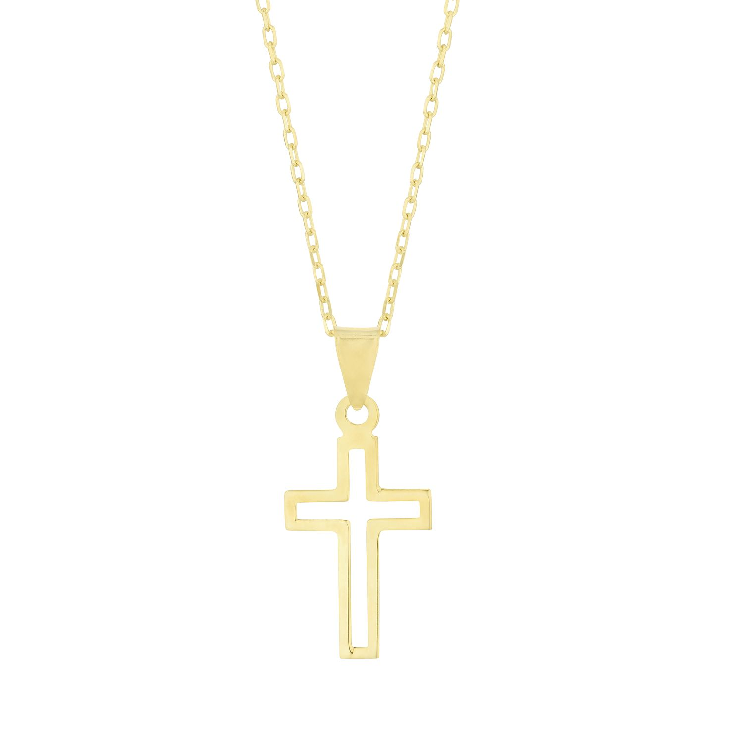 9ct Yellow Gold Open Cross Pendant - Product number 3164985