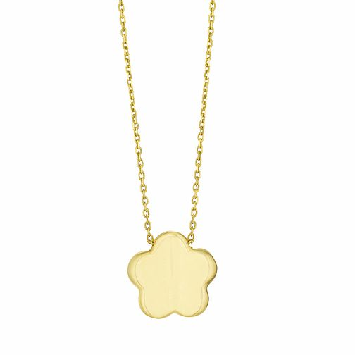 9ct Yellow Gold Flower Necklace - Product number 3165027