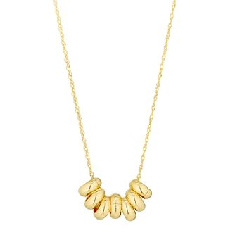 9ct Yellow Gold 7 Rings Luck Necklace - Product number 3165078