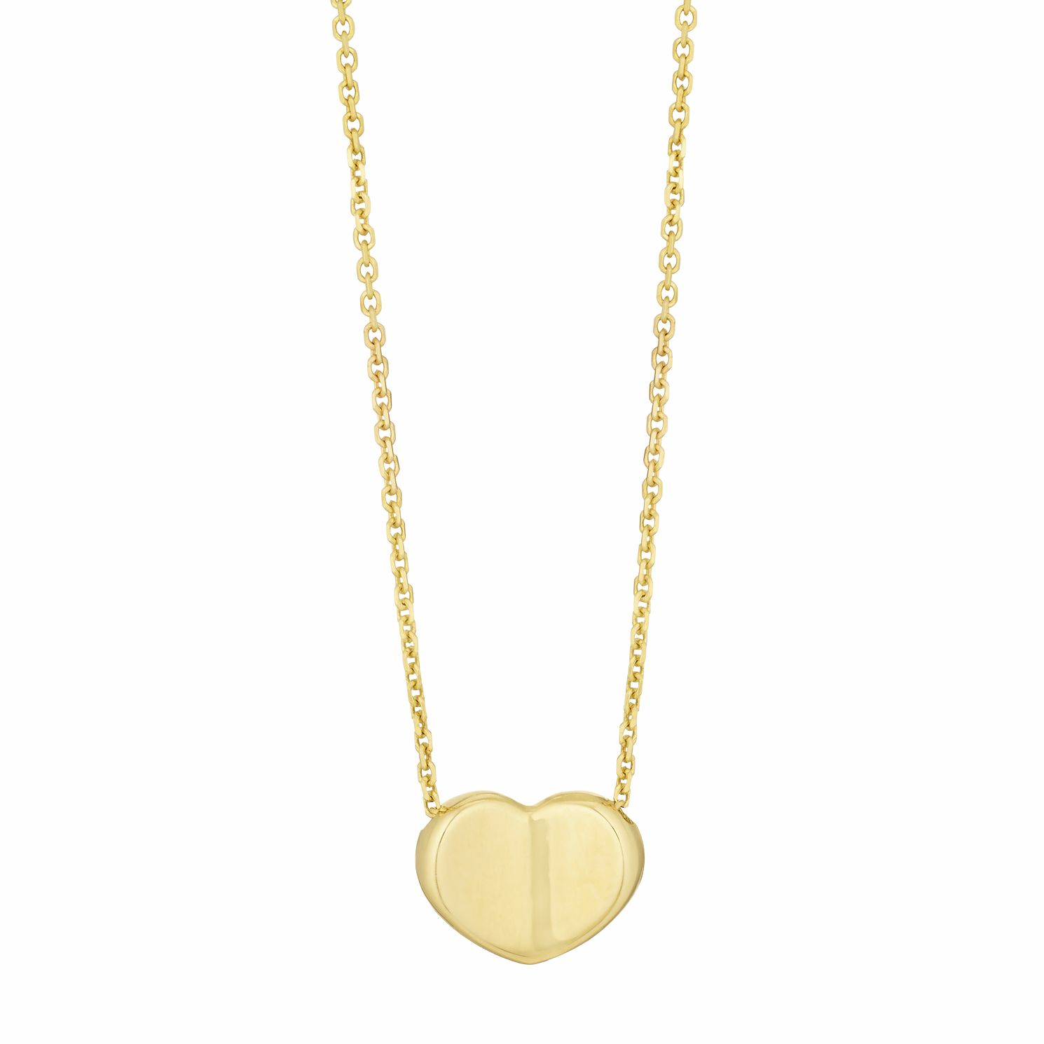 9ct Yellow Gold Heart Necklace - Product number 3165086