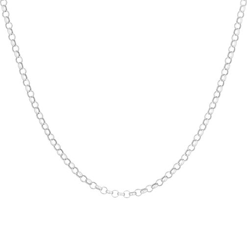 9ct White Gold Belcher Chain Necklace - Product number 3165132