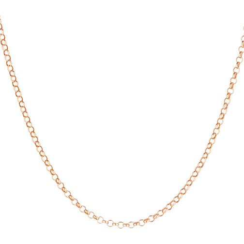 9ct Rose Gold Belcher Chain Necklace - Product number 3165140