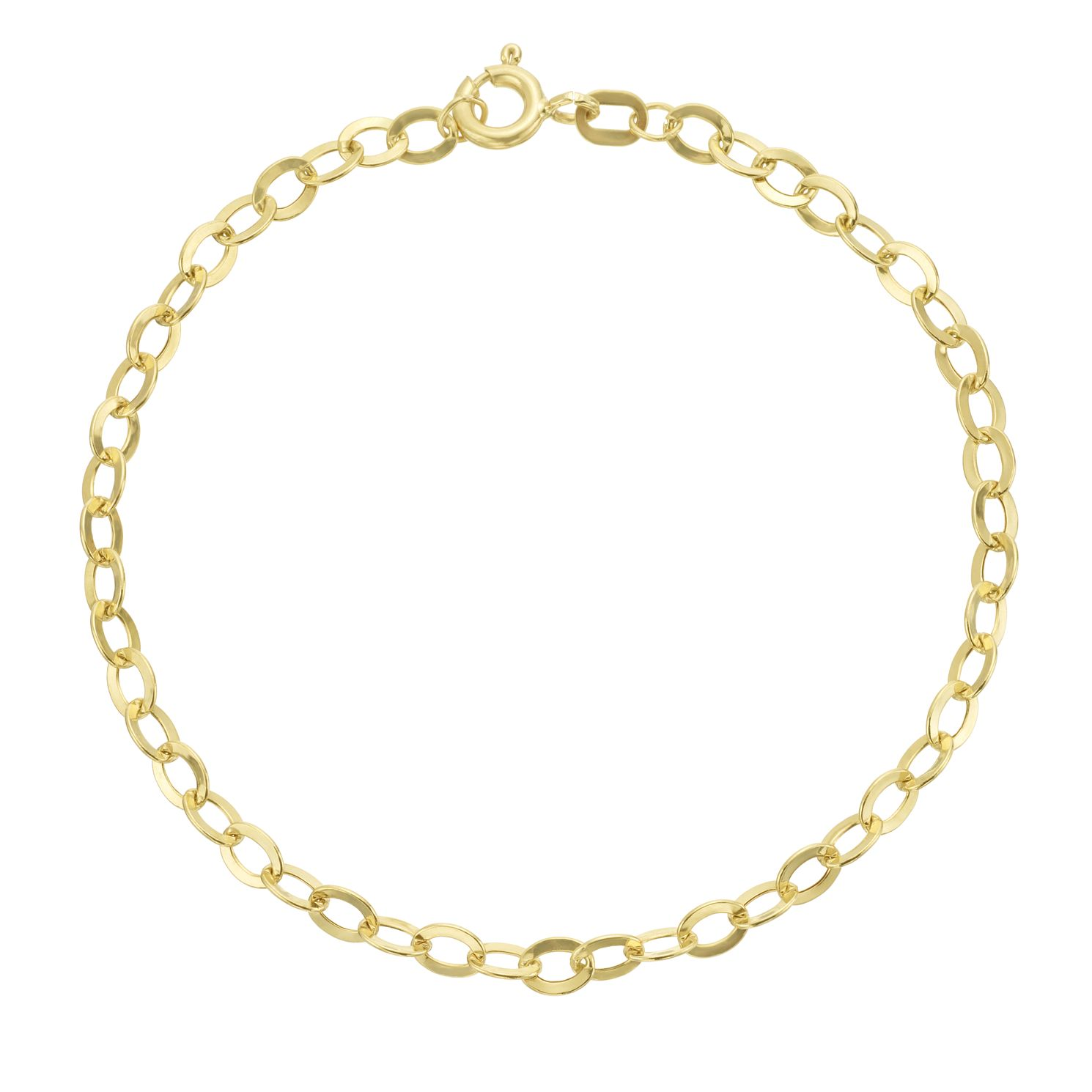9ct Yellow Gold Chain Bracelet - Product number 3165787