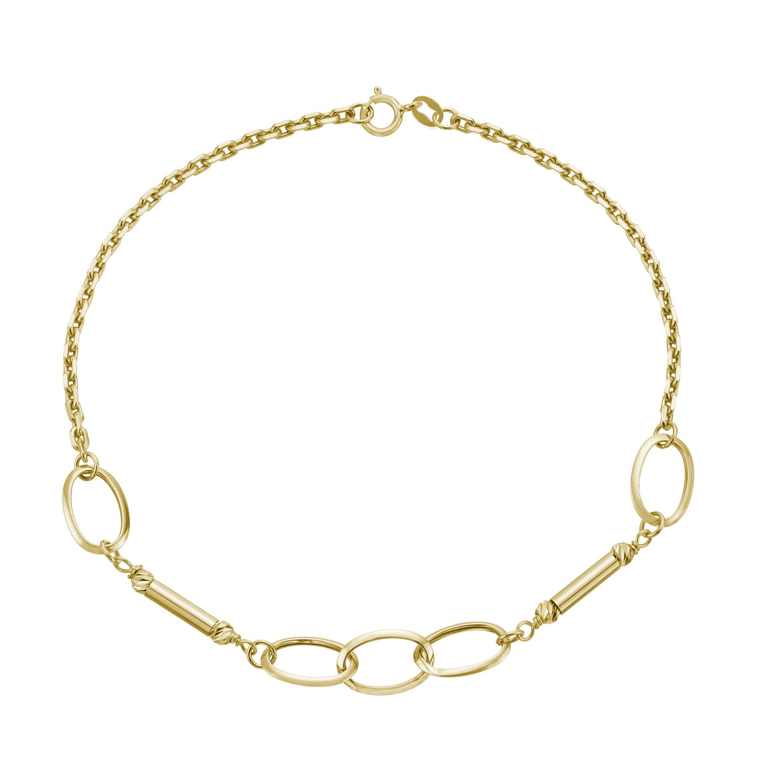 9ct Yellow Gold Bar & Link Bracelet - Product number 3165817