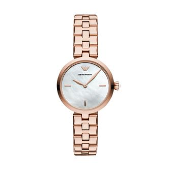 Emporio Armani Ladies' Rose Gold Tone Bracelet Watch - Product number 3166392