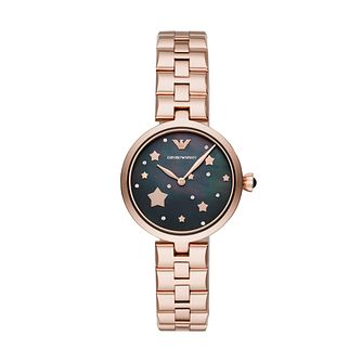 Emporio Armani Ladies' Rose Gold Tone Bracelet Watch - Product number 3166414