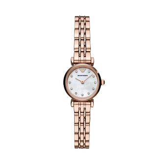 Emporio Armani Ladies' Rose Gold Tone Bracelet Watch - Product number 3166449