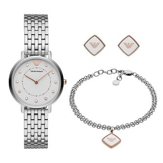 Emporio Armani Ladies' Watch & Jewellery Gift Set - Product number 3166473