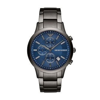 Emporio Armani Men's Gunmetal Stainless Steel Bracelet Watch - Product number 3166597