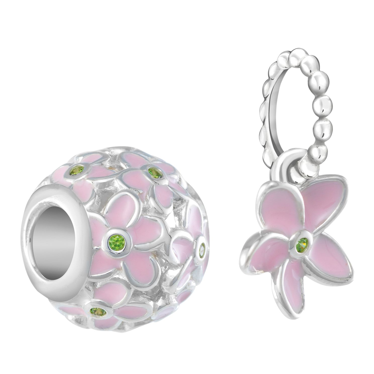 Chamilia Plumeria Cubic Zirconia Two Piece Charm Set - Product number 3171817