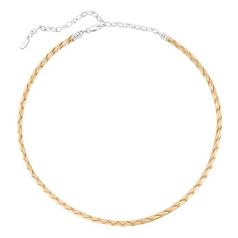 Chamilia Braided Gold Leather Choker - Product number 3172708