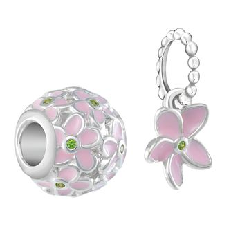 Chamilia Plumeria Cubic Zirconia Two Piece Charm Set - Product number 3175189