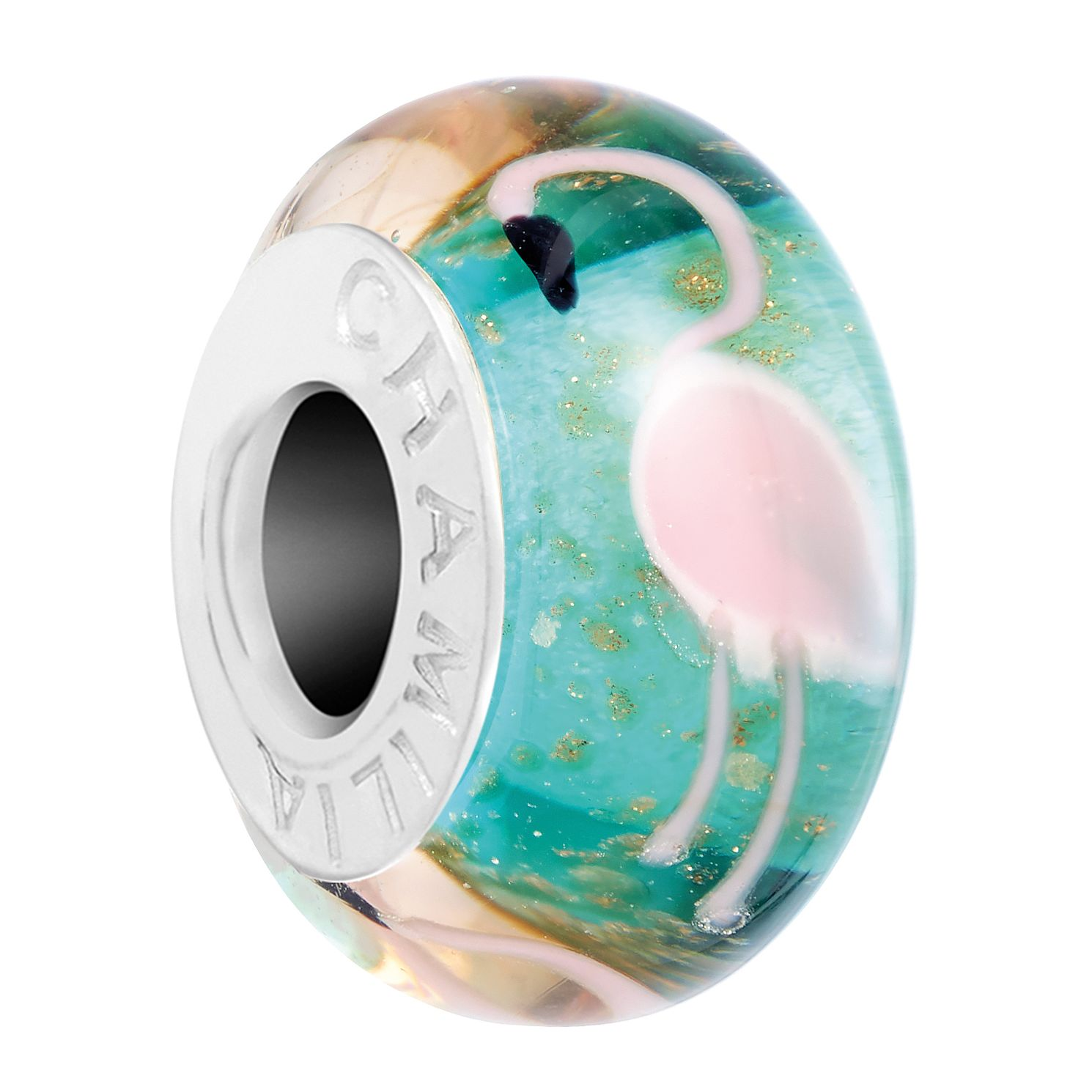 Chamilia Flamingo Murano Glass Charm - Product number 3175405