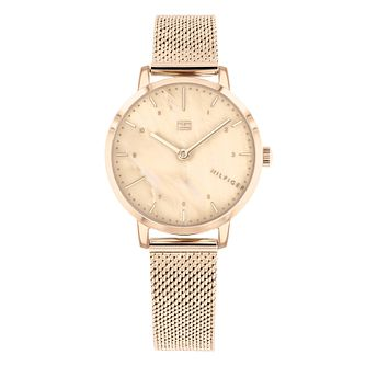 Tommy Hilfiger Lily Ladies' Rose Gold Plated Bracelet Watch - Product number 3175669