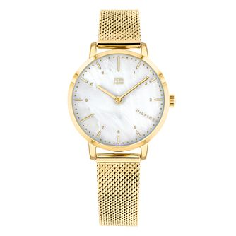 Tommy Hilfiger Lily Ladies' Gold Plated Bracelet Watch - Product number 3175685