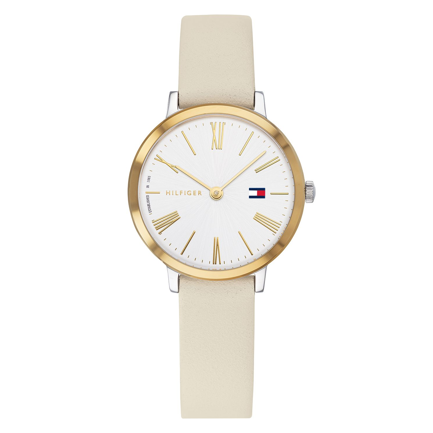 Tommy Hilfiger Project Z Ladies' Cream Leather Strap Watch - Product number 3175715