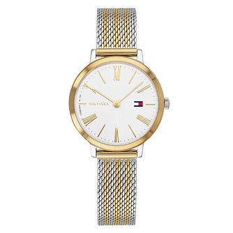 Tommy Hilfiger Ladies' Two Tone Mesh Bracelet Watch - Product number 3175790