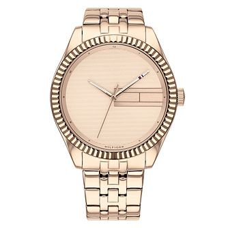 Tommy Hilfiger Lee Ladies' Rose Gold Tone Bracelet Watch - Product number 3175812