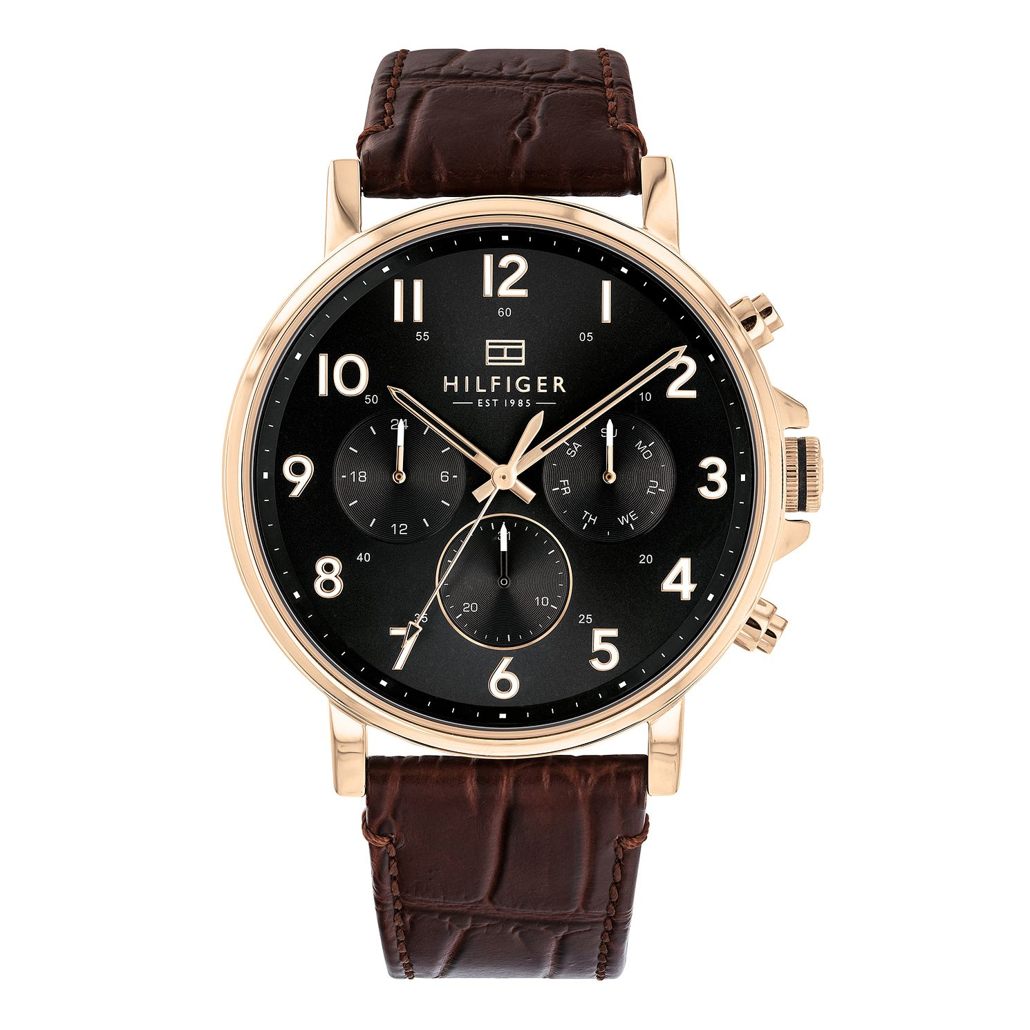 Tommy Hilfiger Daniel Men's Brown Leather Strap Watch - Product number 3175847