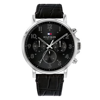 Tommy Hilfiger Men's Black Leather Strap Watch - Product number 3175863
