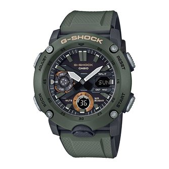 Casio G-SHOCK Carbon Core Guard Men's Green Strap Watch - Product number 3177408
