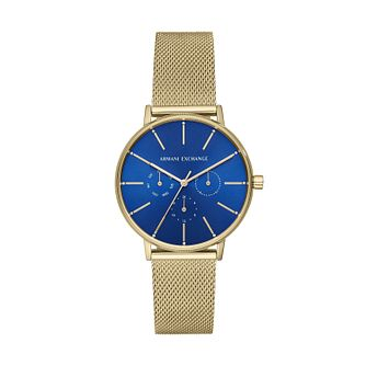 Armani Exchange Ladies' Gold Tone Mesh Bracelet Watch - Product number 3178420