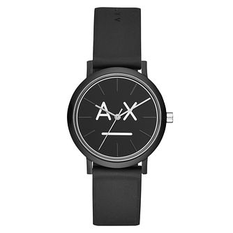 Armani Exchange Ladies' Black Silicone Strap Watch - Product number 3178439