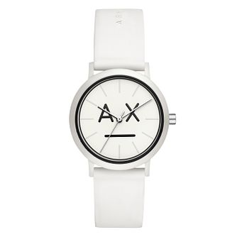 Armani Exchange Lola Ladies' White Silicone Strap Watch - Product number 3178455