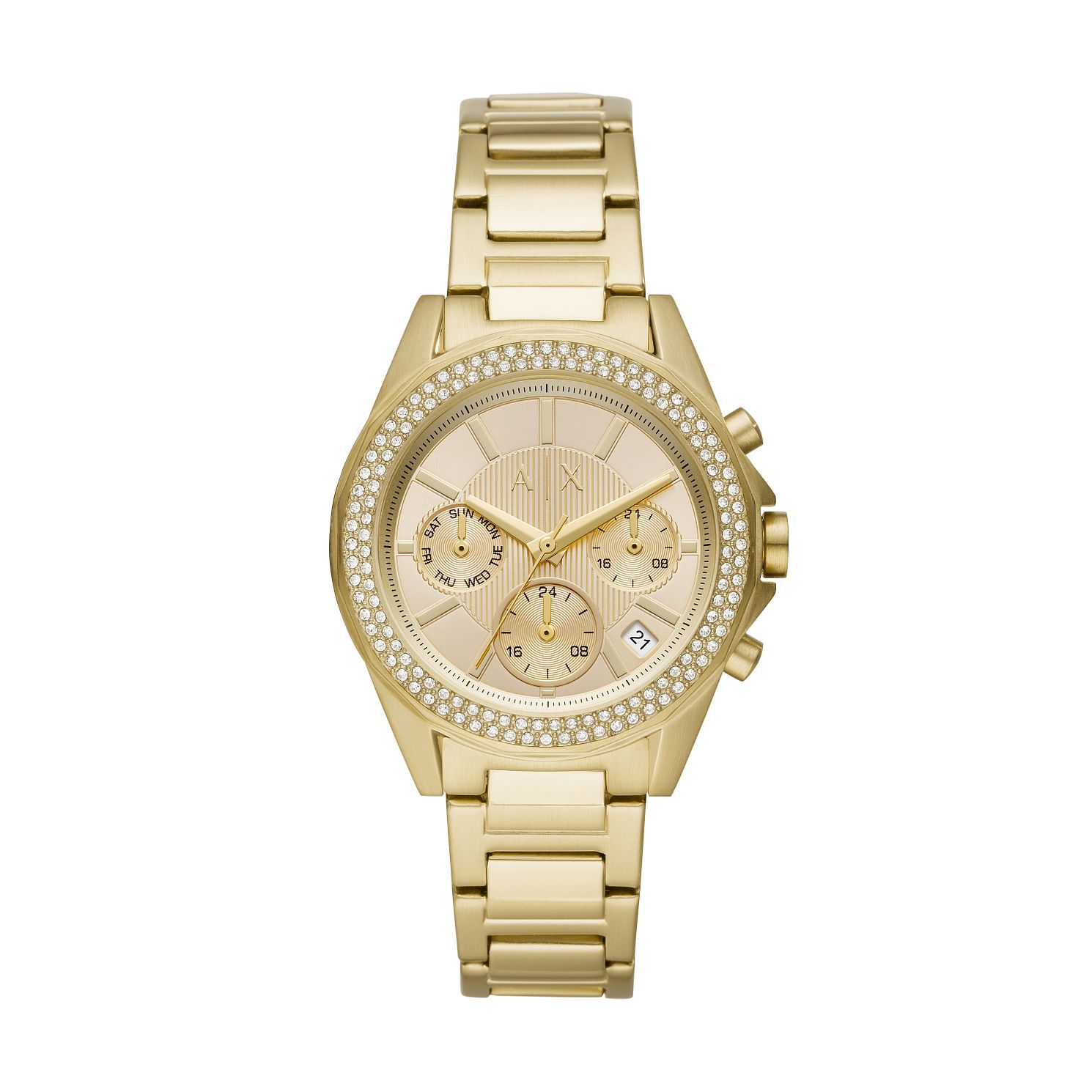 Armani Exchange Lady Gold Tone Bracelet Watch - Product number 3178471