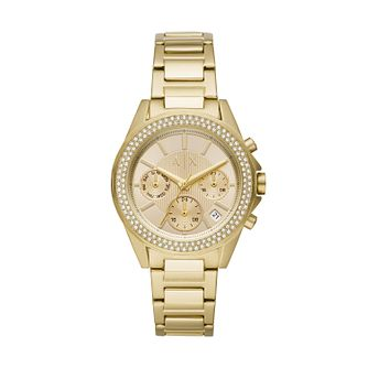 Armani Exchange Lady Drexler Gold Tone Bracelet Watch - Product number 3178471