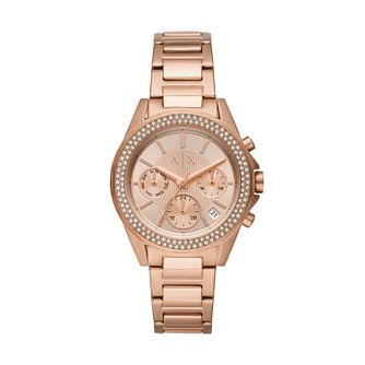 Armani Exchange Lady Drexler Rose Gold Tone Bracelet Watch - Product number 3178498