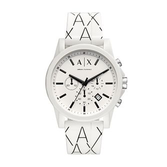 Armani Exchange Outerbanks Men's White Silicone Strap Watch - Product number 3178501