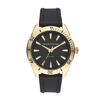 Armani Exchange Enzo Men's Black Silicone Strap Watch - Product number 3178560