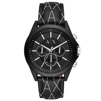 Armani Exchange Men's Black Leather Strap Watch - Product number 3178595