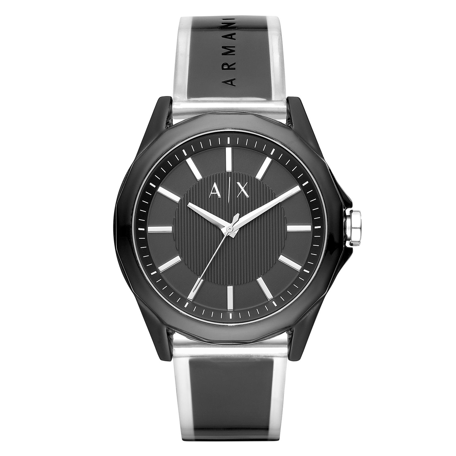 Armani Exchange Men's Black PU Strap Watch - Product number 3178641
