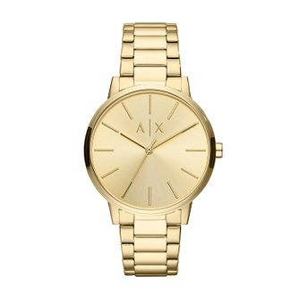 Armani Exchange Cayde Men's Gold Tone Bracelet Watch - Product number 3178684
