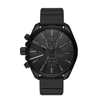 Diesel M59 Chronograph Men's Black Silicone Strap Watch - Product number 3178773