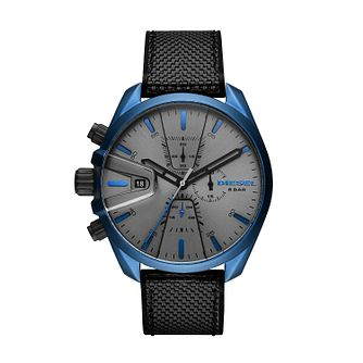 Diesel MS9 Chrono Men's Black Silicone Strap Watch - Product number 3178811