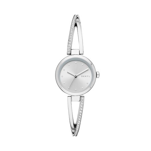 DKNY Crosswalk Glitz Ladies' Stainless Steel Bangle Watch - Product number 3178927
