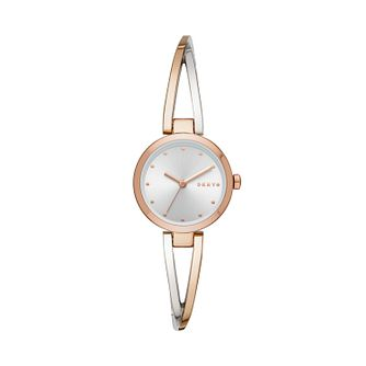 DKNY Crosswalk Ladies' Two Tone Bracelet Watch - Product number 3178943