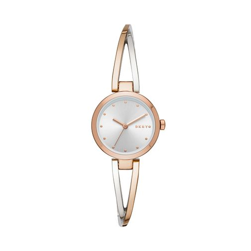 DKNY Crosswalk Ladies' Two Tone Bangle Watch - Product number 3178943