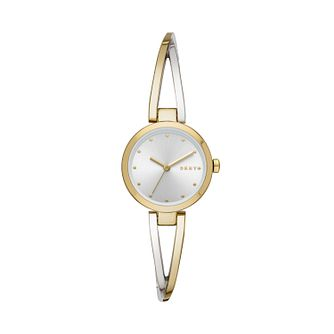 DKNY Crosswalk Ladies' Two Tone Bangle Watch - Product number 3178951