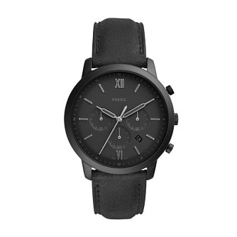 Fossil Neutra Chronograph Men's Black Leather Strap Watch - Product number 3179656